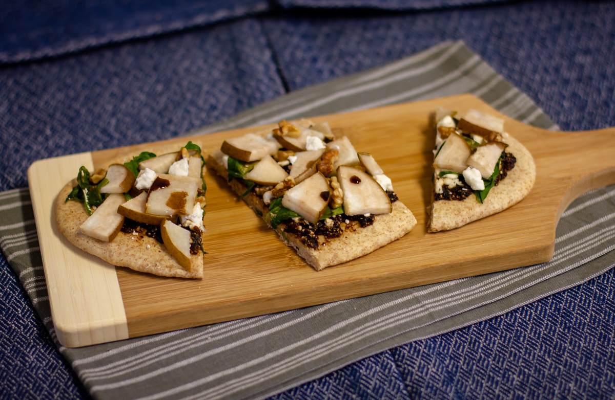 Pear, Fig, and Goat Cheese Flatbread