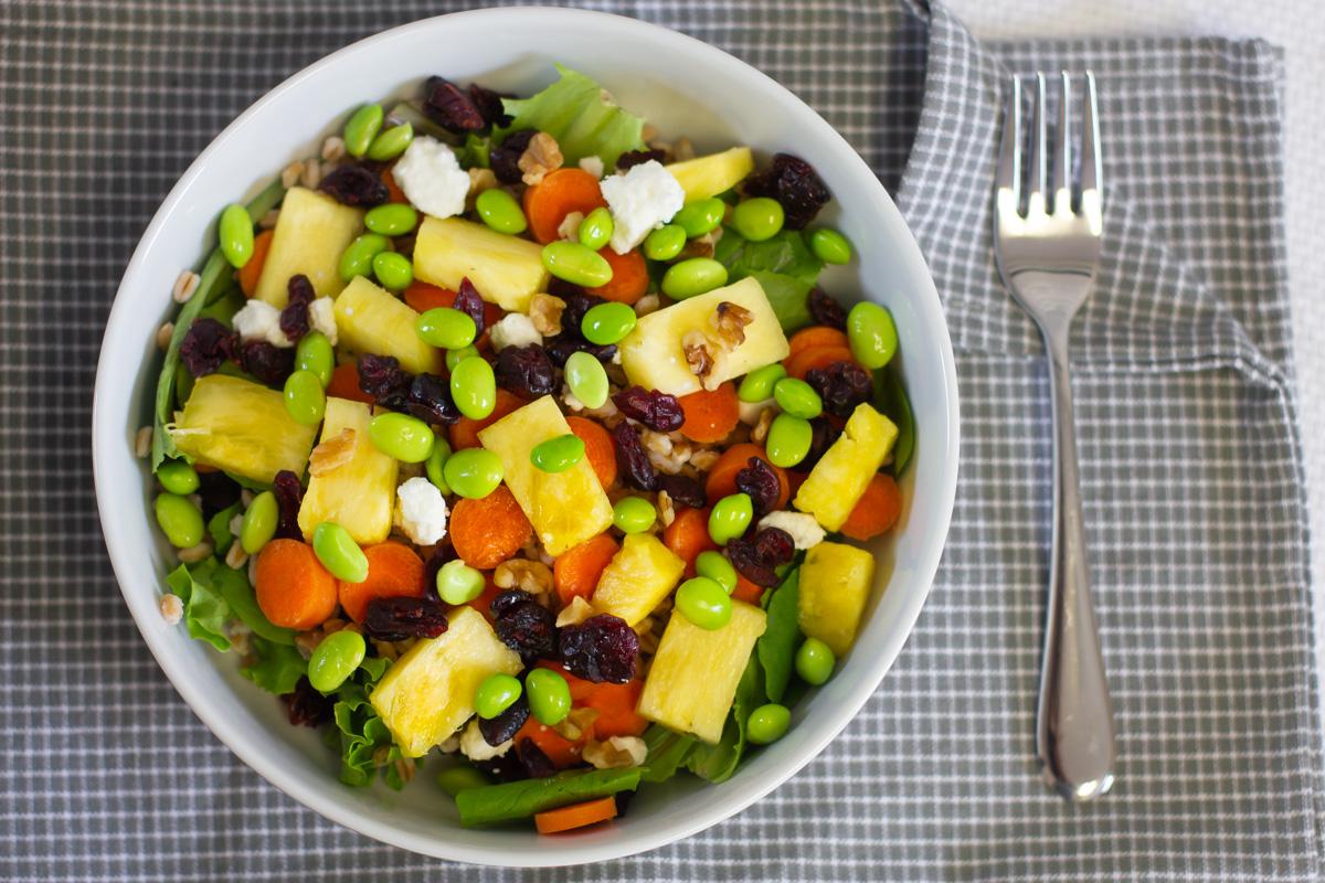Pineapple Balsamic Salad With Farro