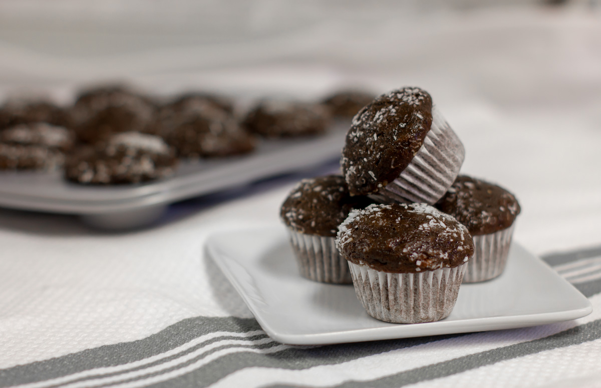 Mini Chocolate Banana Muffins