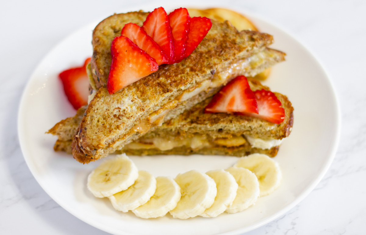 PB Banana French Toast with Cinnamon Apples