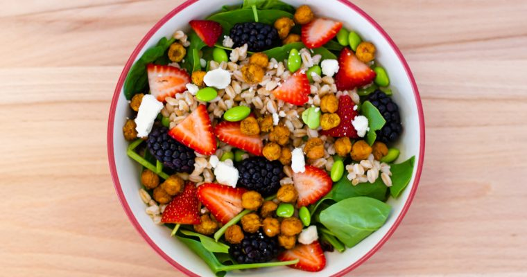 Berry Chickpea Salad