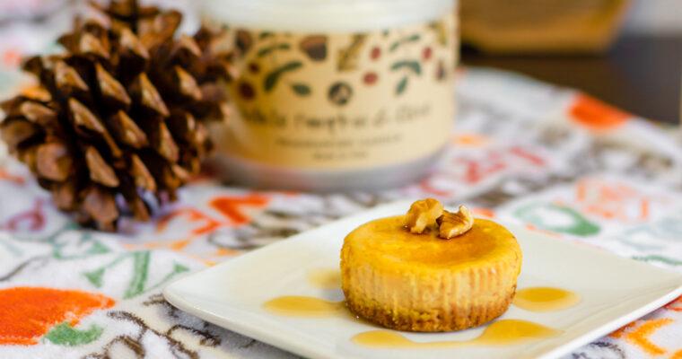 Mini Pumpkin Pie Cheesecakes